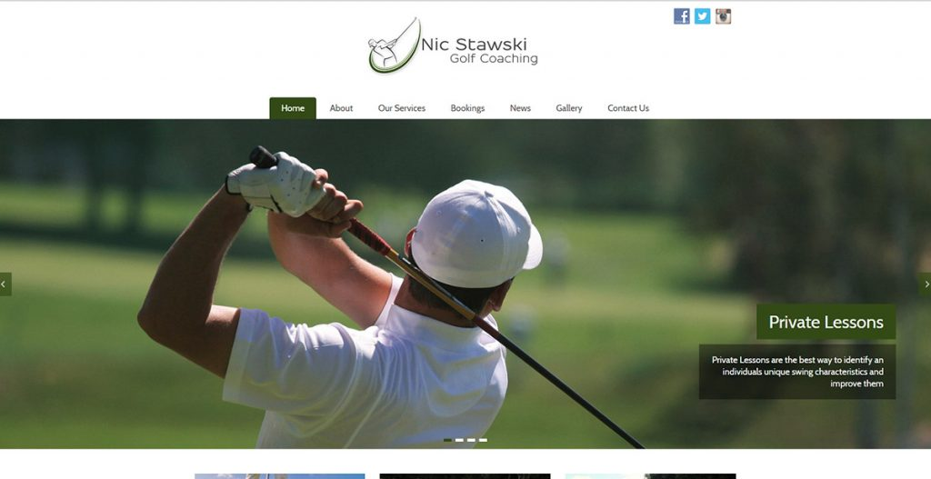 Nic Stawksi Golf Coaching